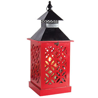 Mandala Wooden Lantern