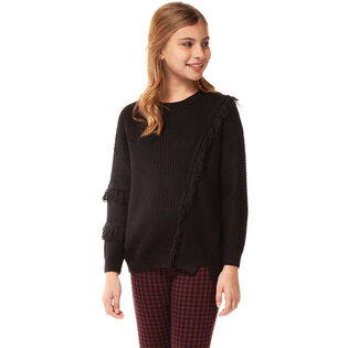 Junior Girls' [7-14] Fringe Sweater