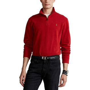 Men's Estate-Rib Quarter-Zip Pullover Top