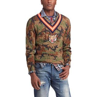Men's Cotton Camo Cricket Sweater