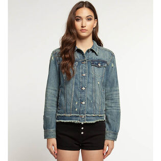Women's Distressed Denim Jacket