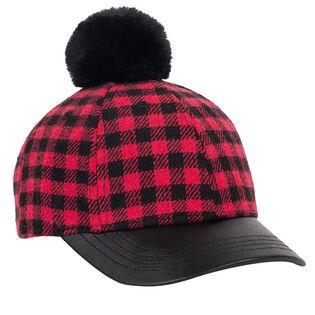 Girls' [3-6] Pompom Tartan Cap