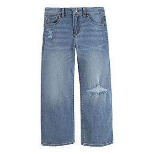 Jean court à jambe large pour filles [4-6X]