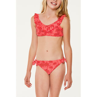 Junior Girls' [7-14] Palm Ruffle Two-Piece Bikini