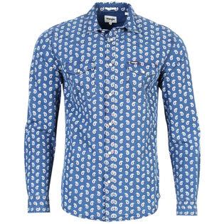 Men's Paisley Print Western Snap Shirt