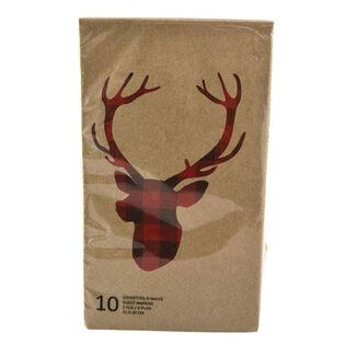 Checked Deer Napkin