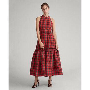 Women's Tartan Self-Tie Dress