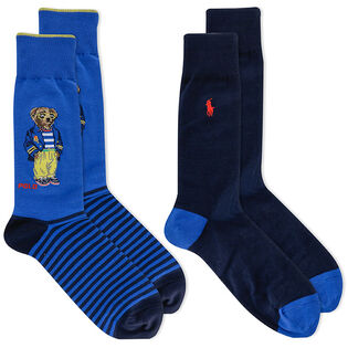 Men's Bermuda Bear Crew Sock (2 Pack)