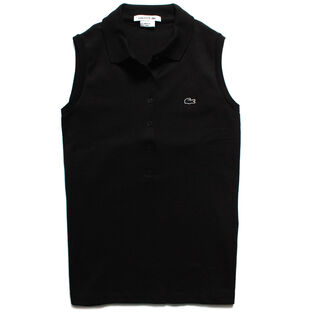 Women's Classic Sleeveless Pique Polo