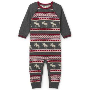 Babies' [3-24M] Fair Isle Moose Jumpsuit
