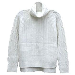 Women's Mixed Knit Turtleneck Sweater