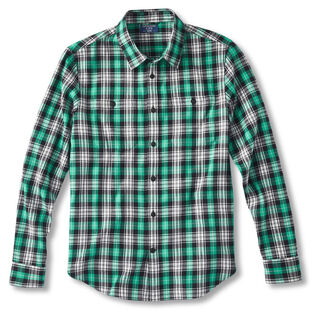 Men's Woven Flannel Button Pocket Shirt