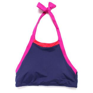 Women's Novelty Solids Cropped Bikini Top
