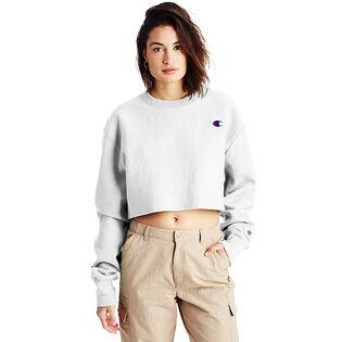 Women's Reverse Weave® Cropped Cut-Off Crew Sweatshirt