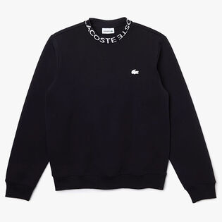 Men's Lettered Crew Cotton-Blend Sweatshirt