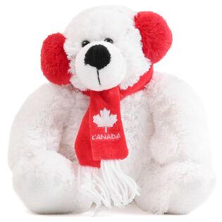"""Muffy Polar Bear Canada 8.5"""" Plush"""