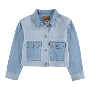 Junior Girls' [7-16] Cropped Utility Trucker Jacket