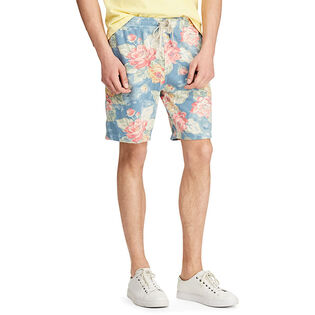 Men's Floral Print Spa Terry Short