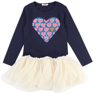 Girls' [3-6] Sequin Heart Tutu Dress