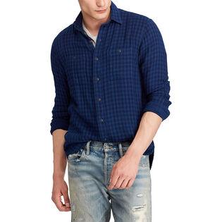 Men's Classic Fit Indigo Cotton Shirt