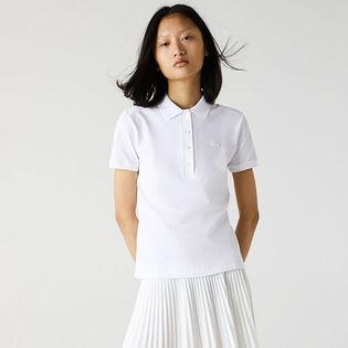 Women's Slim Stretch Cotton Pique Polo