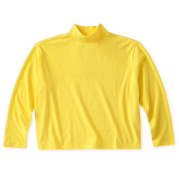 T-shirt court à col montant pour femmes