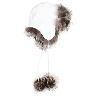 Women's Fur Pompom Aviator Hat
