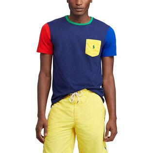 T-shirt classique à blocs de couleur pour hommes