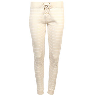 Women's Striped Lace-Up Jogger Pant