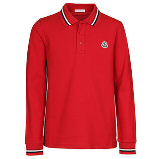 Junior Boys' [8-14] Pique Long Sleeve Polo
