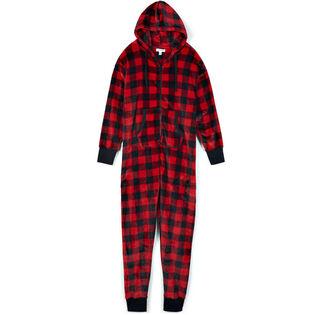 Unisex Hooded Fuzzy Fleece Jumpsuit