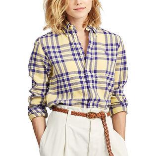Women's Classic Fit Plaid Twill Shirt