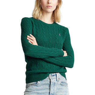 Women's Wool-Cashmere Crew Sweater