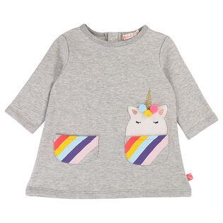Baby Girls' [12-24M] Unicorn Fleece Dress