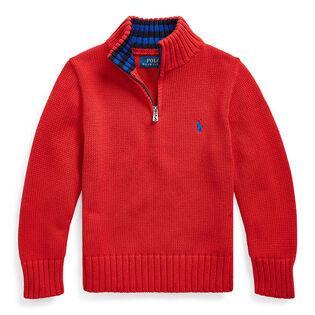 Boys' [2-4] Cotton Half-Zip Sweater