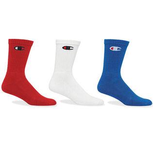 Unisex Classic C Logo Crew Sock (3 Pack)