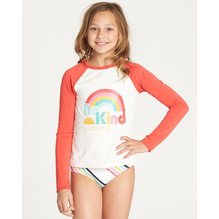 Junior Girls' [5-14] Seeing Rainbows Rashguard Two-Piece Set