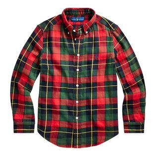 Junior Boys' [8-20] Plaid Cotton Twill Shirt
