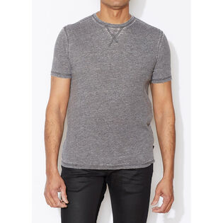 Men's Burnout Stitch Collar T-Shirt