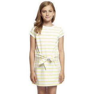 Junior Girls' [7-14] Striped Tie Dress