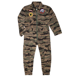Juniors' [6-12] Camouflage One-Piece Jumpsuit