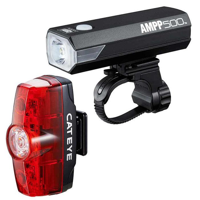 Ensemble de feux de vélo AMPP 500 et Rapid Mini