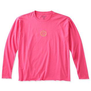 Women's Snowflake Raw Edge Crew T-Shirt