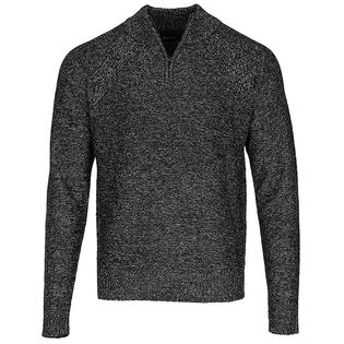 Men's Melange Quarter-Zip Sweater
