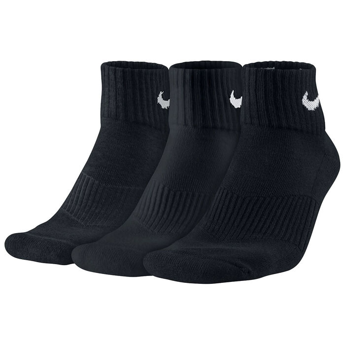 Men's Cotton Cushion Quarter Socks [3 Pack]