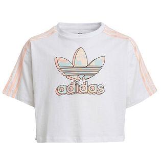 Junior Girls' [8-16] Marble Logo Graphic Crop T-Shirt