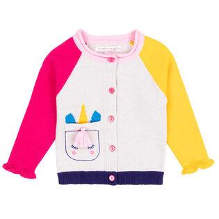 Baby Girls' [6-24M] Unicorn Knit Cardigan