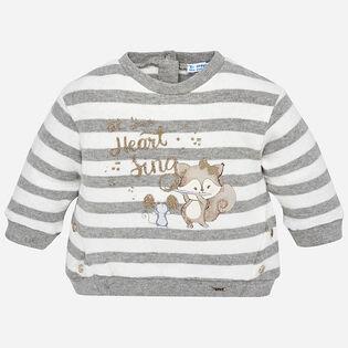Baby Girls' [12-36M] Striped Sweatshirt
