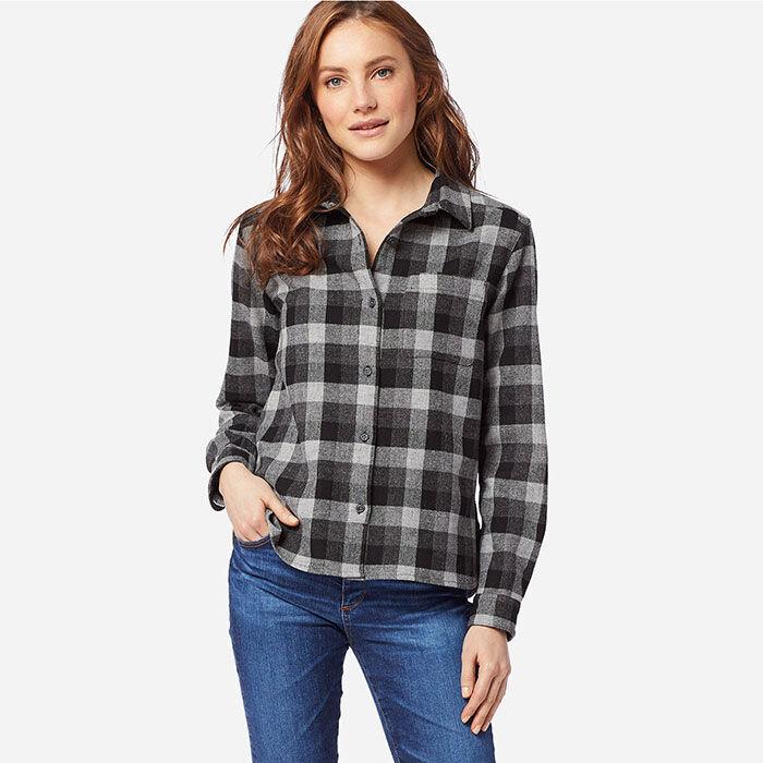 Women's Cropped Lodge Shirt