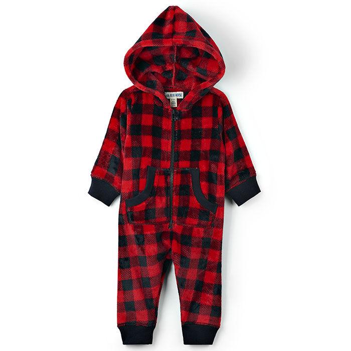 Combinaison à capuchon en molleton duveteux pour bébés [3-24M]
